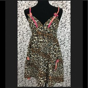 Betsey Johnson Intimates Animal Print Chemise